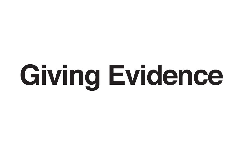 Giving Evidence logo