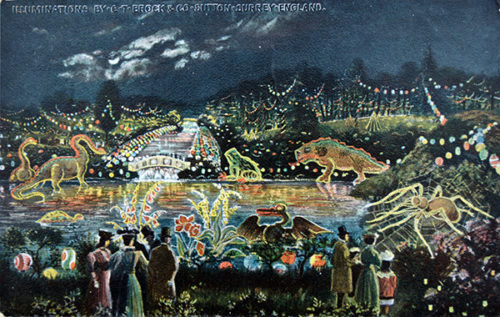 Brocks Illuminations 1906 postcard