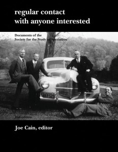 Cain 2007 Regular Contact With Anyone Interested - Documents of the Society for the Study of Speciation ISBN 9781906267001