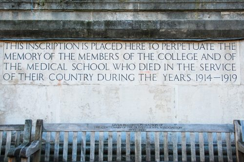 Commemoration for service in the Great War, 1914-1919, University College London (UCL) | ProfJoeCain