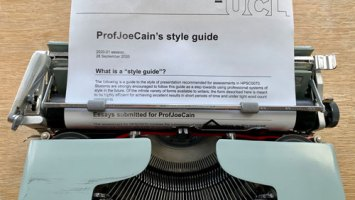 typewriter for ProfJoeCain