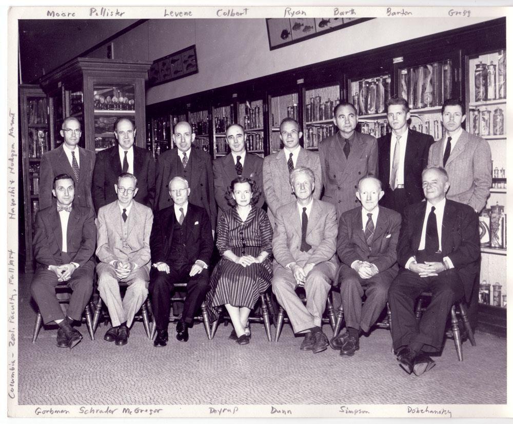 Columbia University Department of Zoology Staff 1954