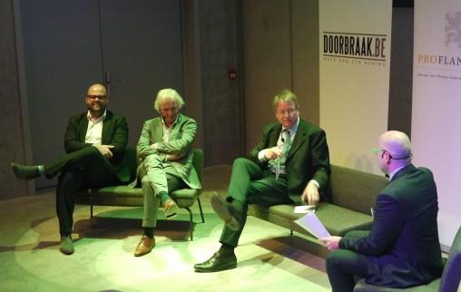 Wouter Duyck, Jan Denys, Professor Debackere (KUL), Karl Drabbe.