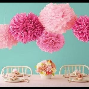 Bolas/flores de papel XXL 35cm