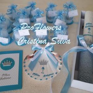 Conjunto batizado em azul