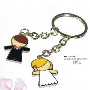 Porta-chaves noivos 3cm