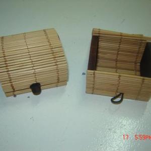 caixa de bambu 7x6x5cm