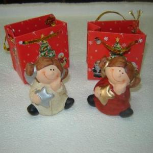 Anjo 7cm em saquinho de papel decorado natal