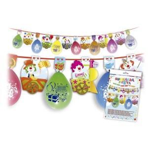 Grinalda balões e palhaços