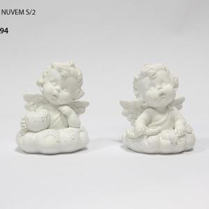 Anjo mini branco com estrela 4,5cm 1