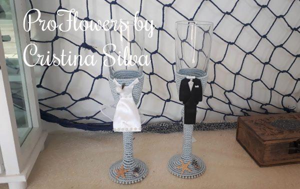 Flutes para casamento personalizados