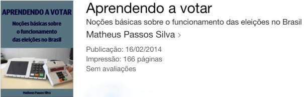 """Livro """"Aprendendo a votar"""""""