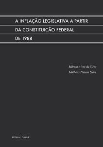 A inflação legislativa a partir da Constituição Federal de 1988