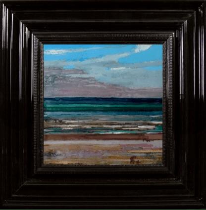 NORMANDY LANDSCAPE, 2010, Encre et Acrylique sur Perspex, 53x53 cm (hors cadre)