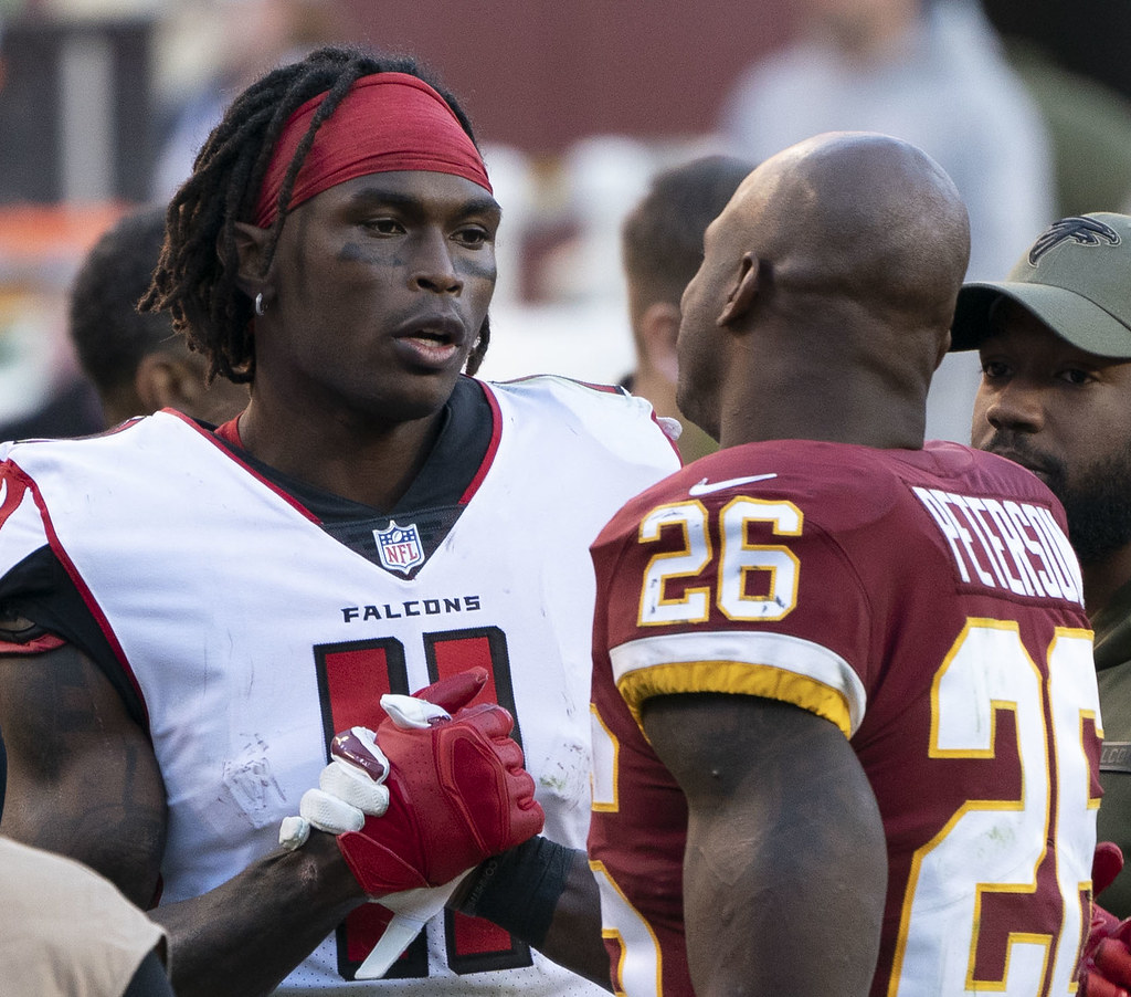 """""""Julio Jones, Adrian Peterson"""" by KA Sports Photos is licensed under CC BY-SA 2.0"""