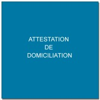 attestation de domiciliation
