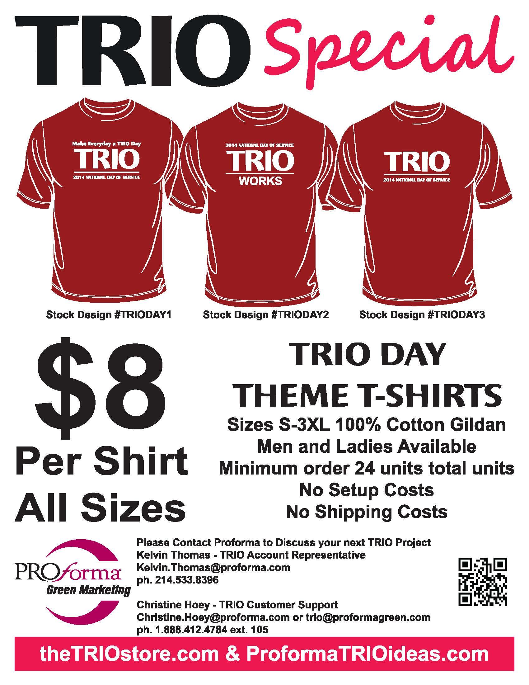 Trio Day Tee Shirts