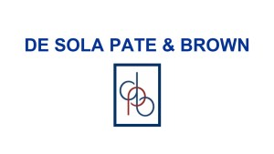 DE SOLA PATE BROWN logo