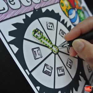 La place des jeux de mots en classe par Profs et Soeurs, roue des lettres