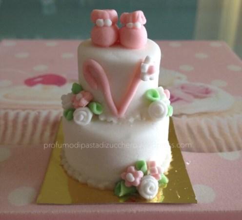 Mini Cake bomboniera in pasta di zucchero