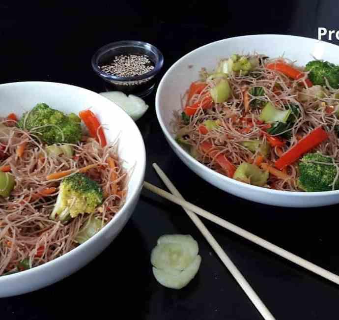 Wok Fried Spicy Noodles/ Glutenfree/ Vegetarian