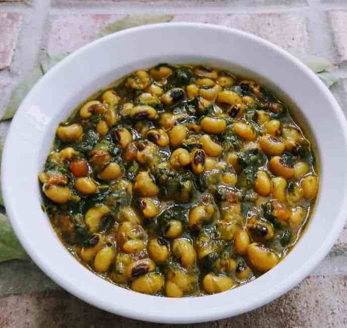 Black Eyed Peas – Spinach Stew – Gluten free Vegan