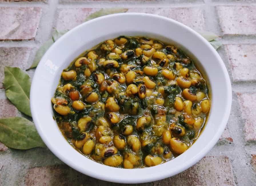Black Eyed Peas – Spinach Stew – Gluten free Vegan