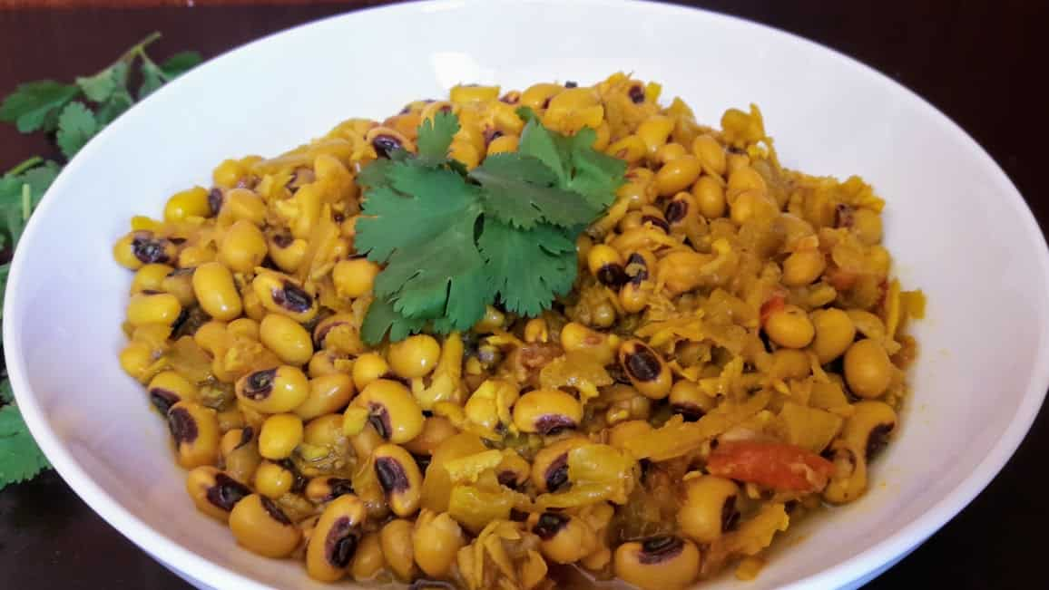 BLACK EYED PEAS COCONUT CURRY-CHAVALI CHI USAL-InstantPot