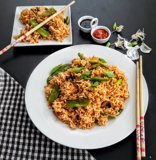 Asian Vegetable Schezwan Rice-InstantPot