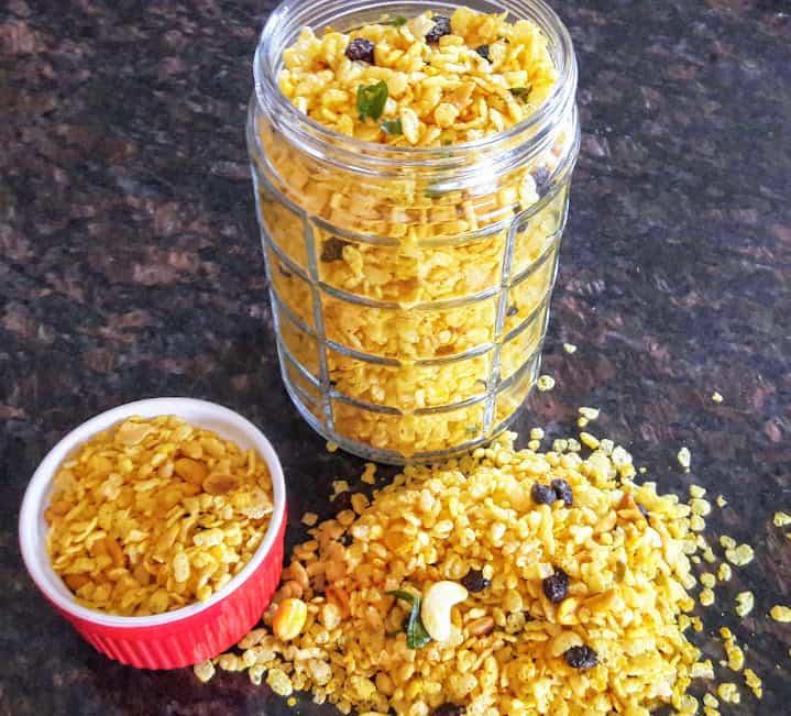 Chivda – Savory Rice Krispy Trail Mix Recipe