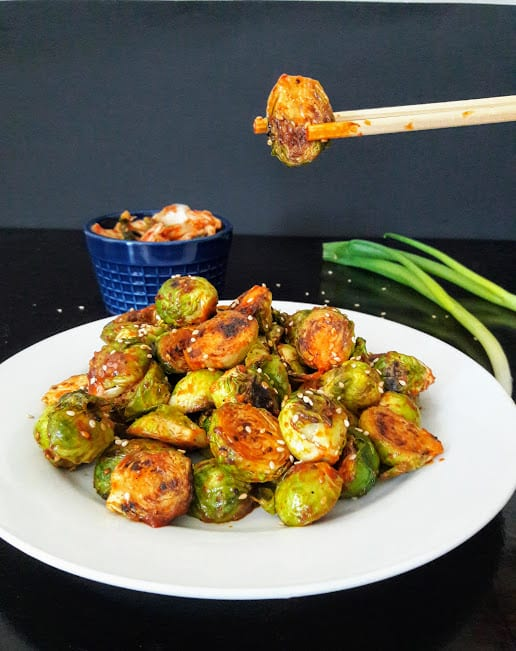 Gochujang Spiced Korean Brussels Sprouts