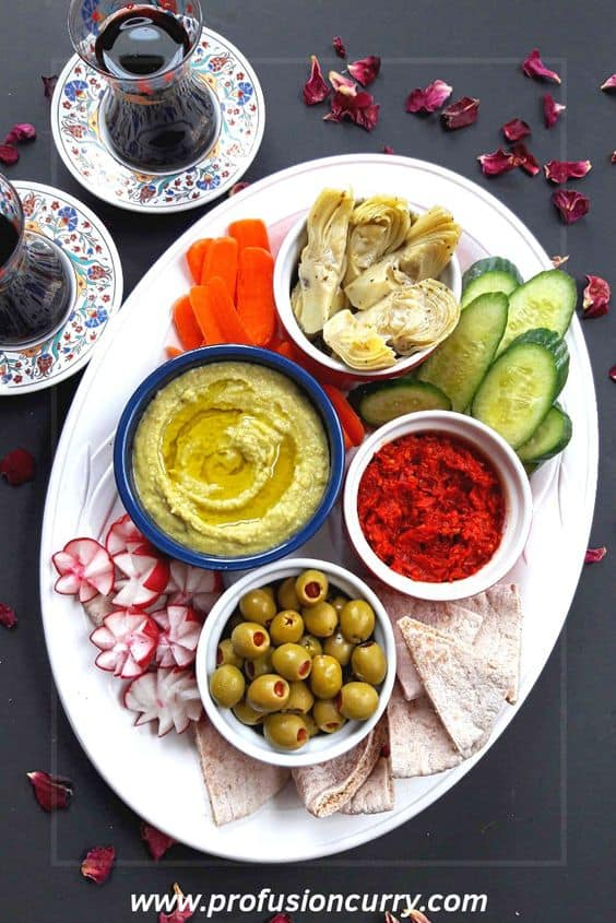 Meditararian Mezze Platter Appetizer