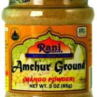 Rani Amchur (Mango) Ground Powder Spice 3oz (85g) ~ All Natural, Indian Origin | No Color | Gluten Free Ingredients | Vegan | NON-GMO | No Salt or fillers