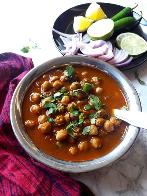 Chana Masala-Punjabi Chole-Chickpea Curry-InstantPot