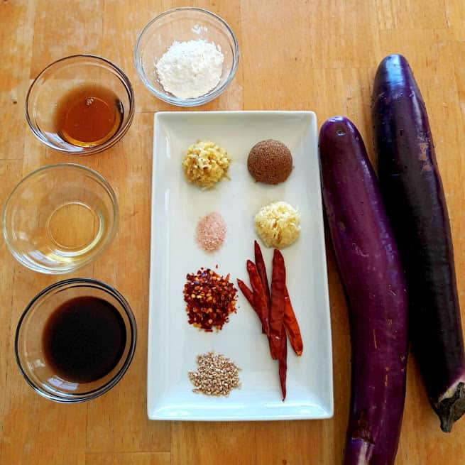 Chinese Spicy Eggplant Ingredients