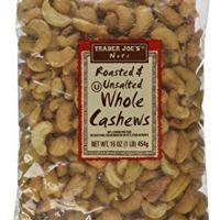 Trader Joe's Roasted & Unsalted Whole Cashews 1lb