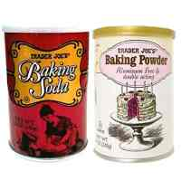 Trader Joes Baking Powder Aluminum Free & Double Acting 8.1 OZ and Baking Soda 12 OZ