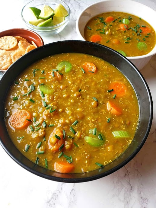 Lentil Quinoa Soup – Instantpot
