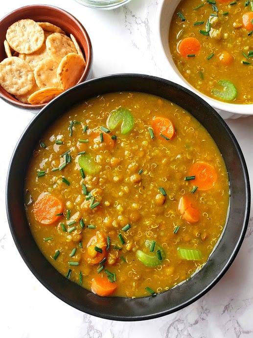 Lentil Quinoa Soup - Instantpot