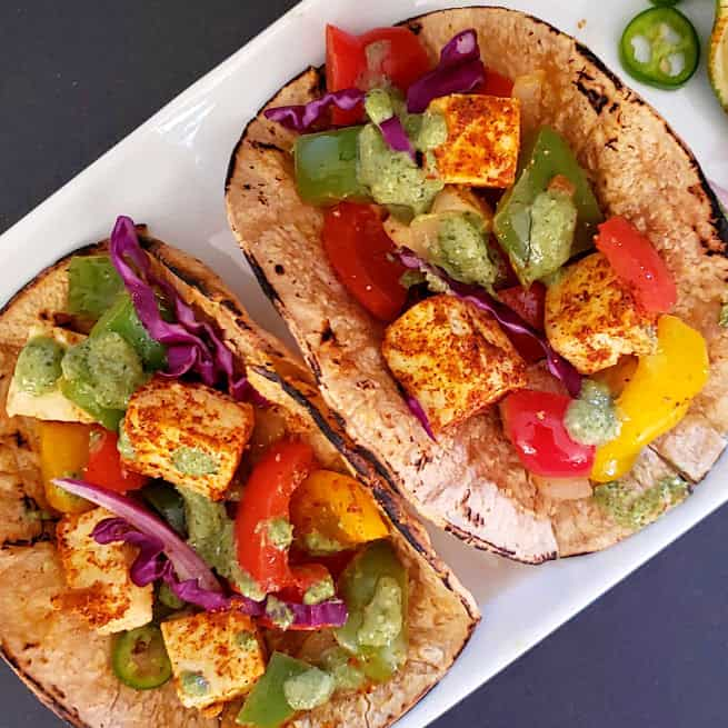 Paneer Tacos – Indian Mexican Fusion Recipe
