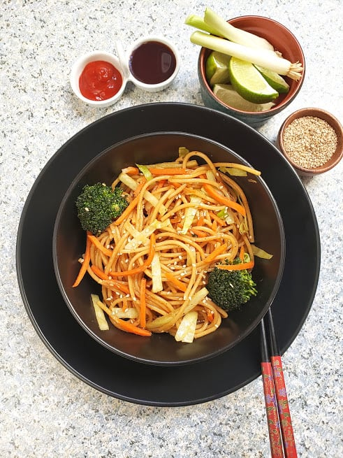Vegetable Lo Mein Noodles – InstantPot Recipe