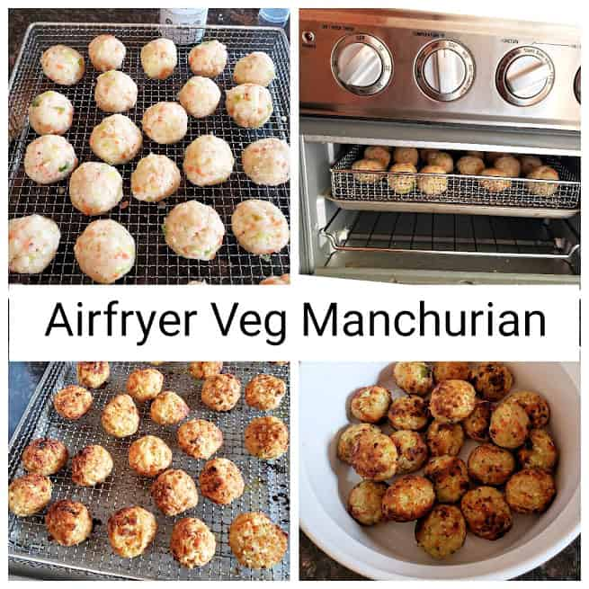 Using Air-fryer , you can make veg dumplings used in veg manchurian recipe.