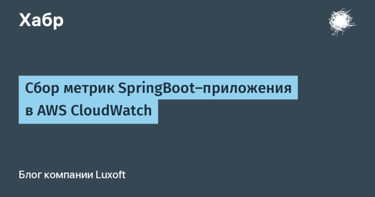 Collecting SpringBoot Application Metrics in AWS CloudWatch