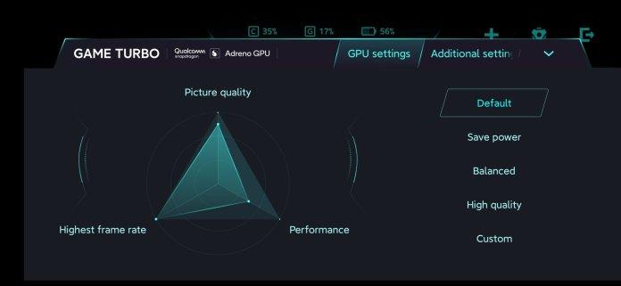 Оновлений інтерфейс додатку Game turbo