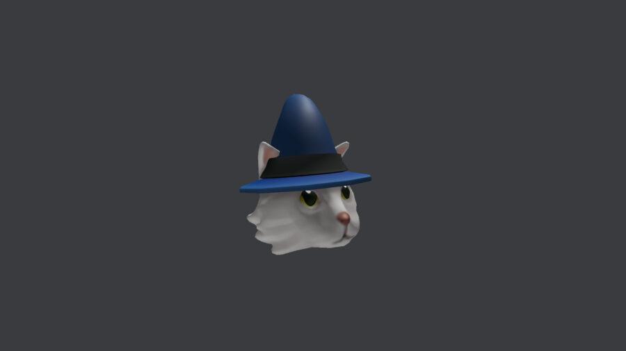 Sombrero de mago gato blanco de Roblox