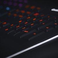 Image of backlit Led gamer keyboard
