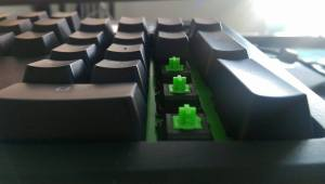 Image of our keyboard showing mechanical switches