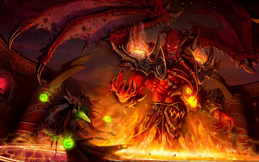 Image of evil Kael'thas from wow