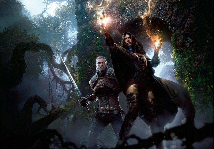Image of Geralt and Yennefer in the witcher 3