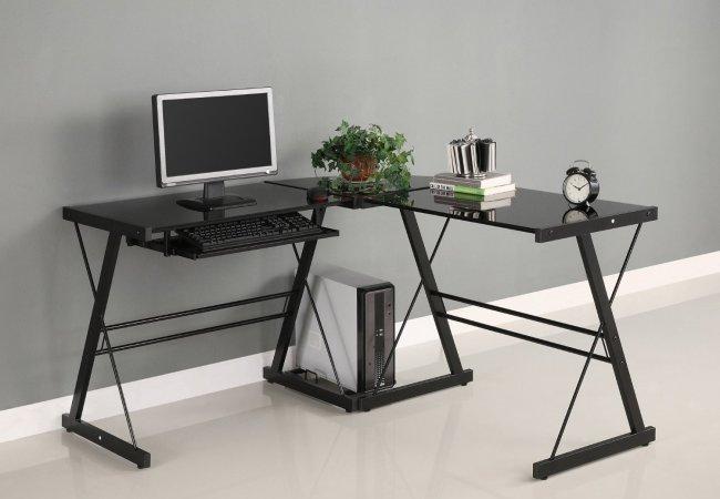 Image of corner office desk